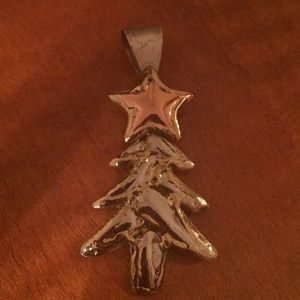 Jewelry - Sterling Silver Christmas tree pendant